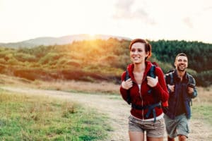 man and woman hiking, macular degeneration, macular degeneration treatment Western MA, macular degeneration doctor Springfield MA