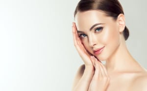 woman holding her hands up to her cheek, Botox Cosmetic, Juvederm, cosmetic services western MA, botox western MA, juvederm Western MA